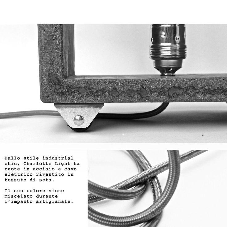 CHARLOTTE LIGHT by Clo'eT design : una lampada in cemento realizzata a mano in cemento. Clo'eT design il mondo di Paola Francesca Denti. CATALOGO CLO'ET DESIGN: #arredamento #industrialchic #concrete #cemento #industrial #home #interior #green #architettura #light #illuminazione #house #natale #2015 #regali #ideeregalo WWW.CLOET.IT SHOP ONLINE: info#cloet.it #ClippedOnIssuu da CLO'ET DESIGN CATALOGO