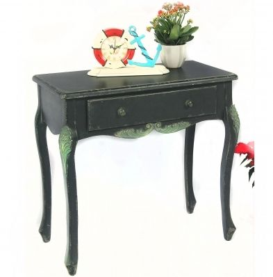 Green Dmbossed Bedside Table This delicate antiqued bedside table bring you into classical times,graceful dark green and elegant lines featured the table dignified. Kingdeful Arts & Crafts Co. Ltd.