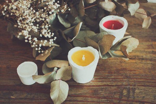DIY: Des Bougies «BETON» aux huiles essentielles par la talentueuse Place Colette:)