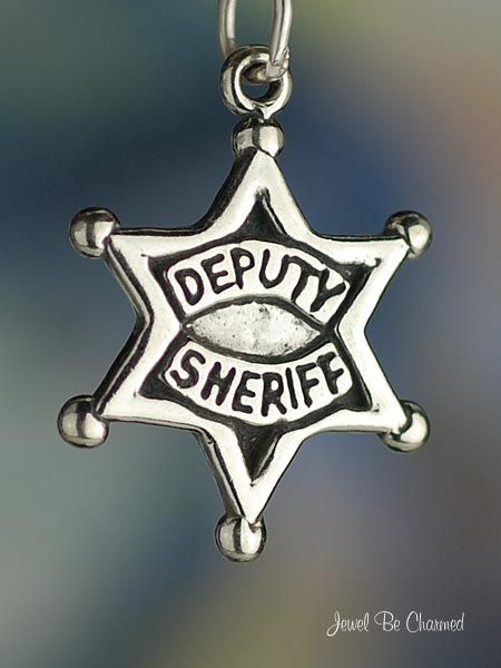 Deputy Sheriff Badge Charm for Law Enforcement by jewelbecharmed
