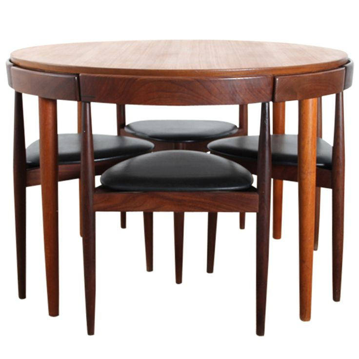 Wonderful Danish Teak Dining Set For Four By Hans Olsen. Round Dining Table ...