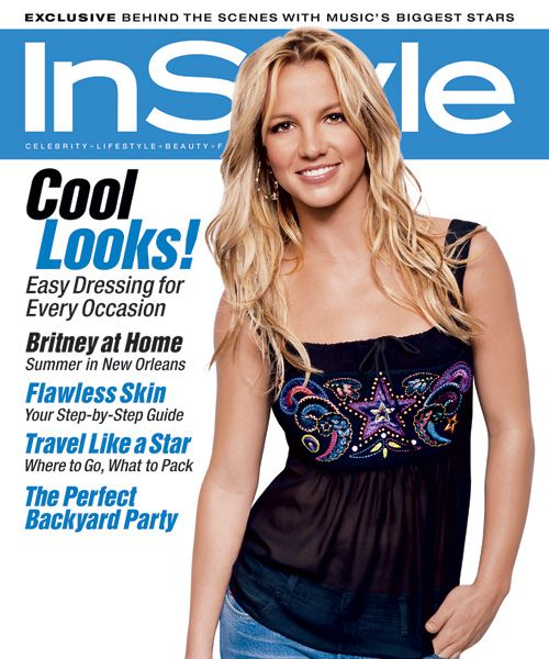 InStyle Magazine Covers: 2002 - July, Britney Spears from #InStyle