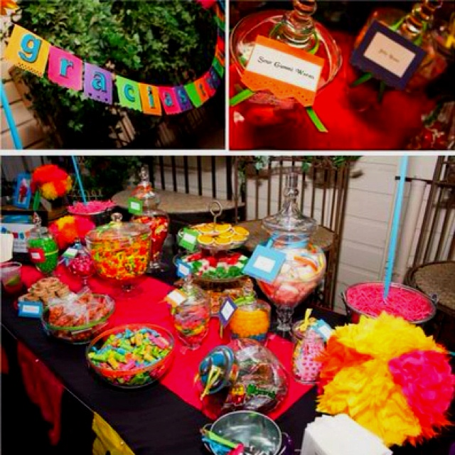 Mexican candy bar foodie pinterest candy bars bar and candy - Candyland party table decorations ...