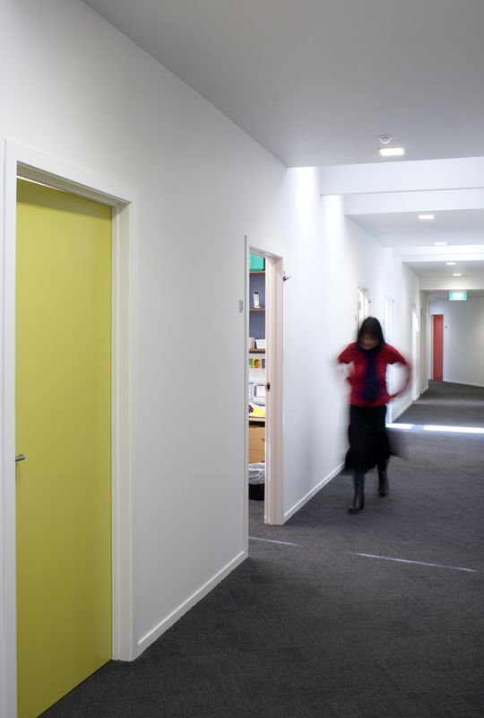 Porirua Union Healthcare - colourful hallways