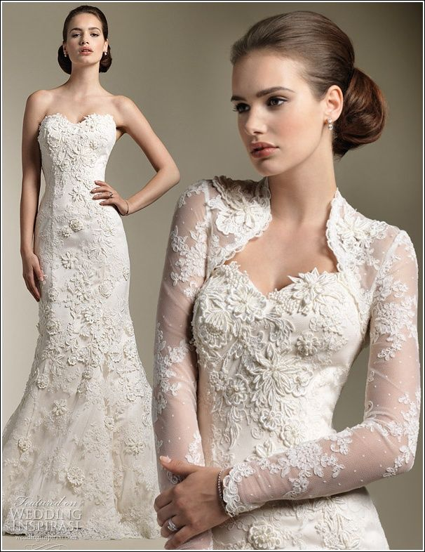 Long Sleeve Lace Wedding Dress Cover Up | Wedding