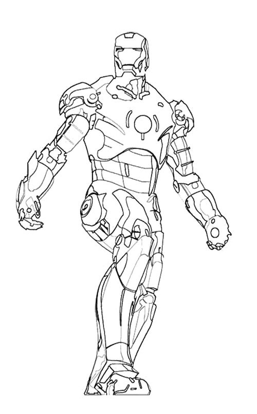 Iron Man Walking Coloring Page