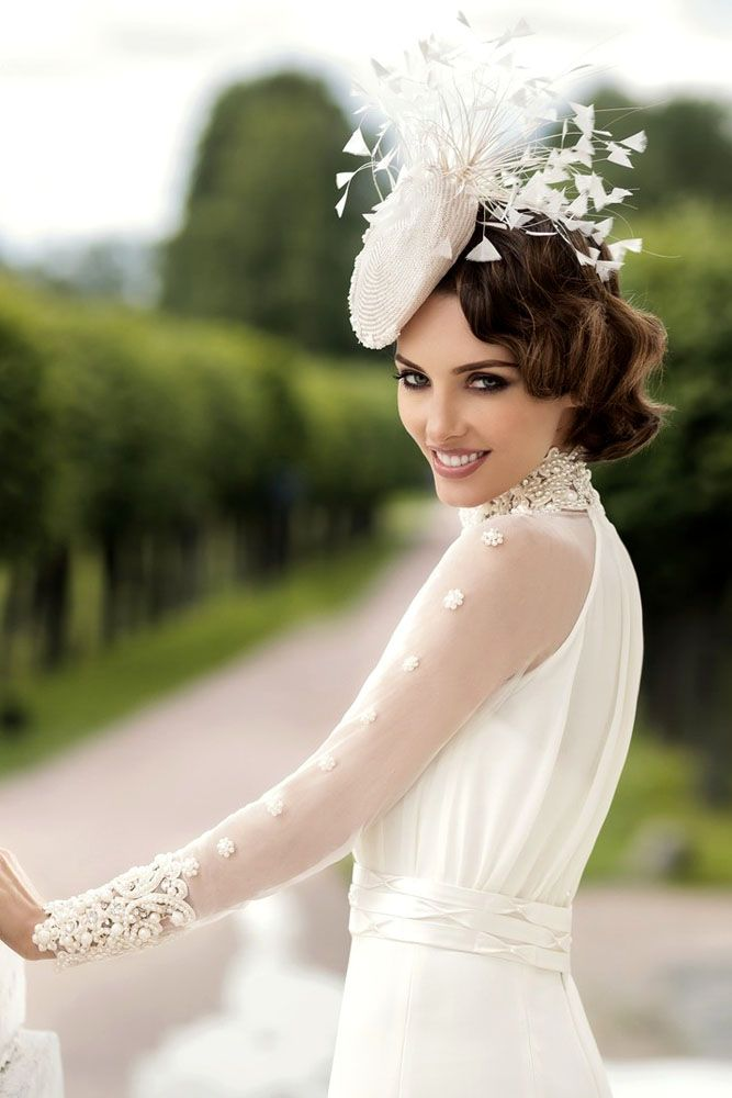 18 Incredible Wedding Hats That Make You Unique ❤ See more: http://www.weddingforward.com/wedding-hats/ #weddings #hats