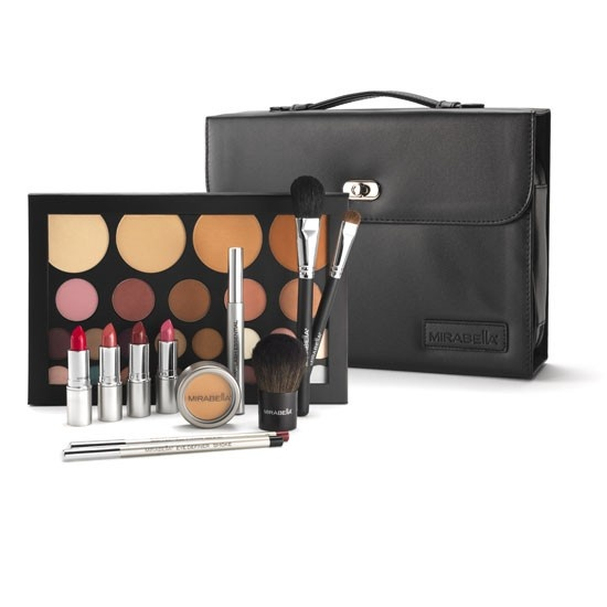 Mirabella Makeup.  The Essential Artist Kit is perfect for anyone interested in cosmetics! Includes 40 products for all ages and skin types.