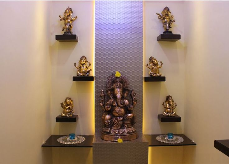 Pooja Room Designs in Hall  Pooja Room  Home Temple