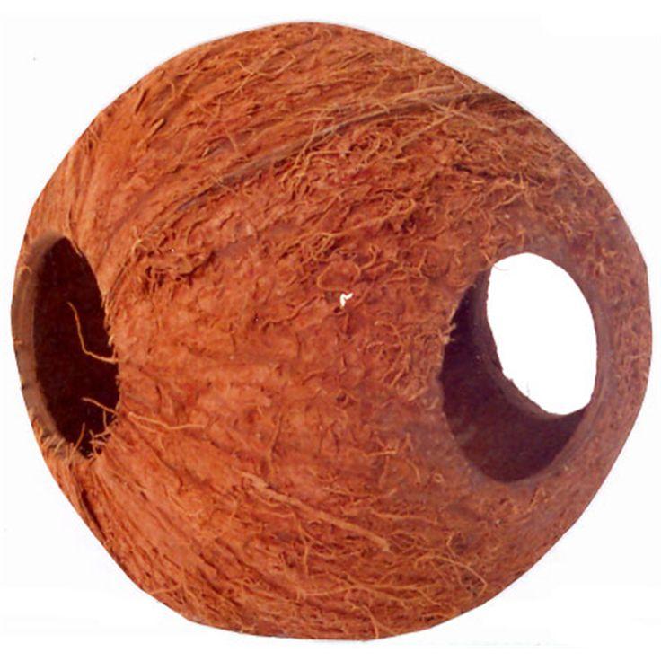 Hamsters kunnen zich in dit kokosnoot huisje heerlijk nestelen!