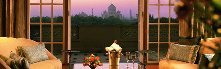 Oberoi Amarvilas, Agra - yes, my room had a view of the Taj Mahal.