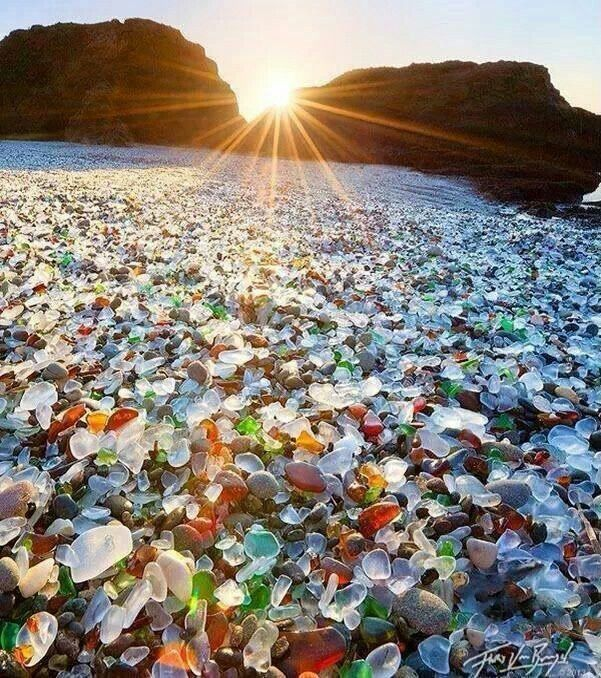 Sea glass beach!!! MacKerricher State Park, CA, USA if this is a real place I want to go tomorrow!!