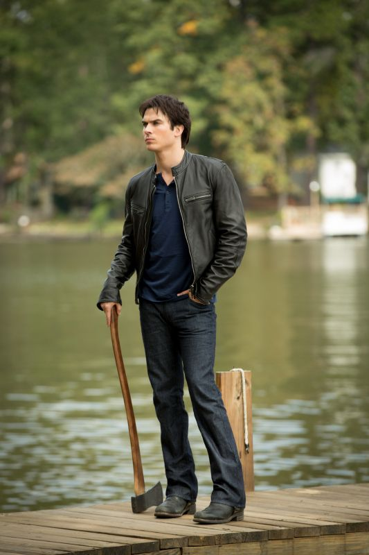 """The Vampire Diaries -- """"O Come, All Ye Faithful"""" -- Pictured: Ian Somerhalder as Damon Salvatore -- Image Number: VD409a_0090.jpg -- Photo: Bob Mahoney/The CW -- © 2012 The CW Network, LLC. All rights reserved."""