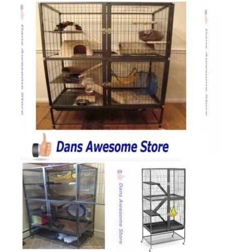 Very-Big-Cage-Chinchilla-Rabbit-Hamster-Guinea-Pig-Rat-Ferret-Accessories-Animal