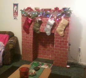 Little Miss Southern Charm: Cardboard Fireplace