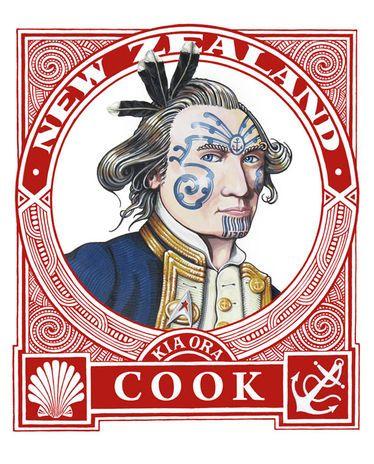 Lester Hall : Kia Ora Cook Print