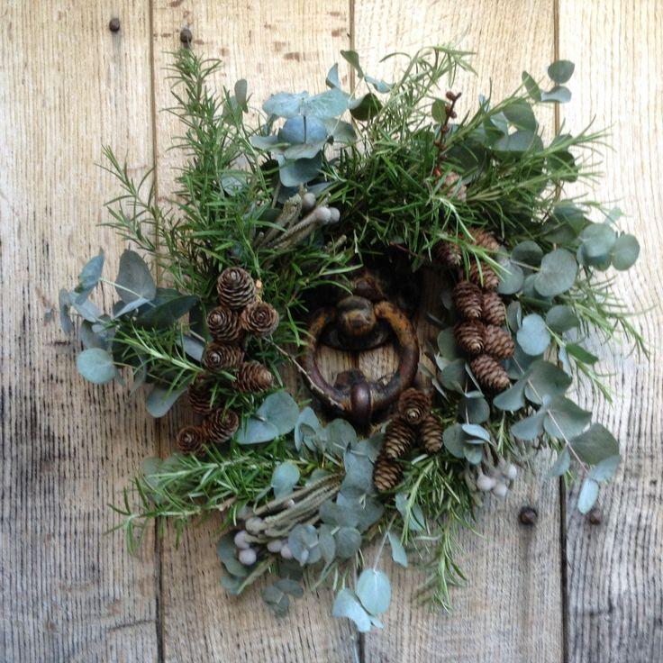 Christmas wreath, ready for the Upton Christmas Fair next Saturday