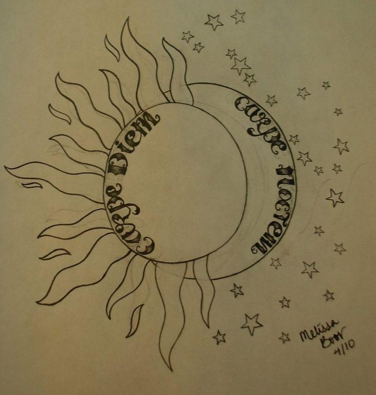 MY future tatt. But smaller :) Carpe Diem - Sieze the day and Carpe Noctem - Sieze the night