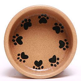 Large Ceramic Pet Dishes $24.00 by Emerson Creek.  You can add the pet's name for $5.00.