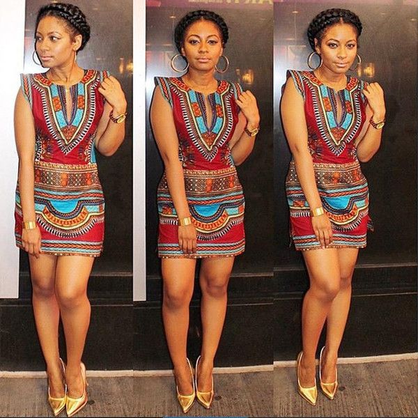 39a6cb5d29 Traditional African Print Party Dress