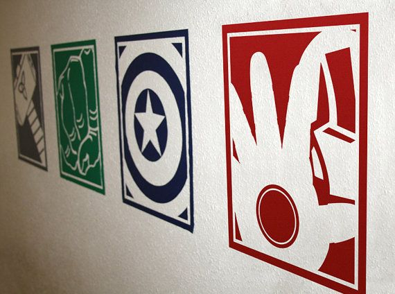 Best SuperheroComic Nursery Images On Pinterest - Superhero vinyl wall decals