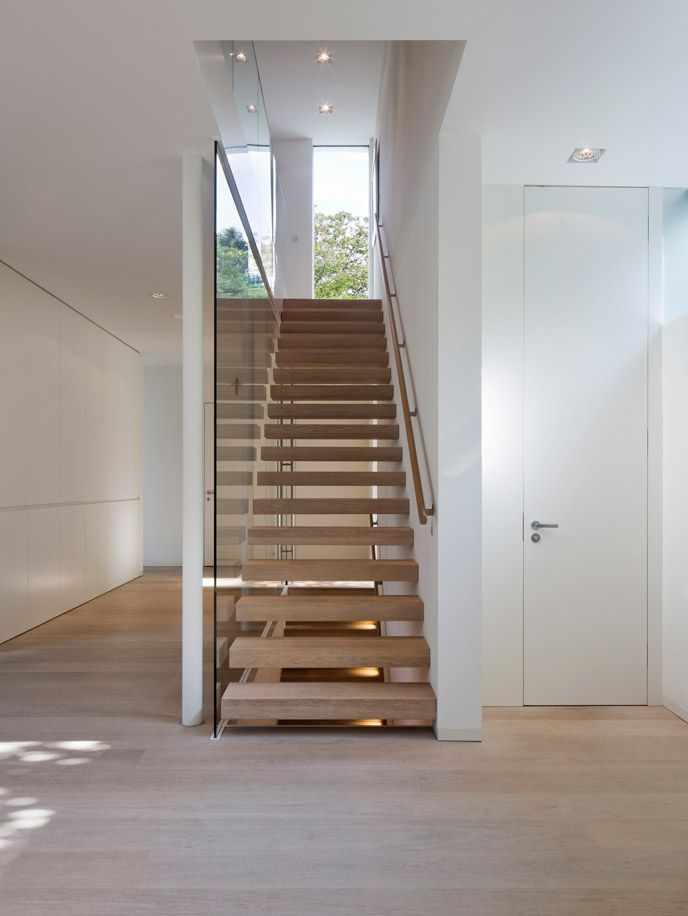 | STAIRS | #DinesenOak #Private Residence, Germany Designed by #GeitnerArchitekten | a timeless palette of white oak and soft white