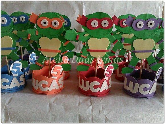 centro de mesa tortuga ninjas