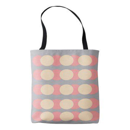 Retro Spotty Coral Gray Cream  Shoulder Bag - accessories accessory gift idea stylish unique custom