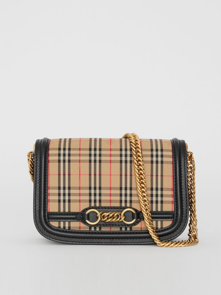 cd2578b5b7a4 The 1983 Check Link Bag with Leather Trim in Black - Women ...