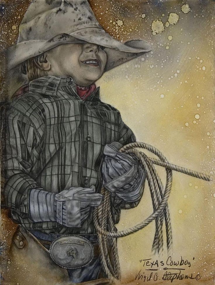 """Texas Cow-boy"" - de Virgil C. Stephens"