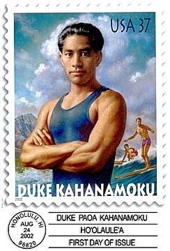 37¢ Duke Kahanamoku - USPS commemorative stamp