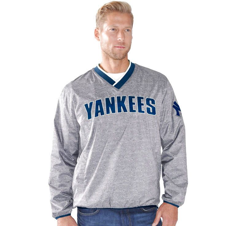 New York Yankees G-III Sports by Carl Banks Coin Toss Pullover Jacket - Gray - $47.99