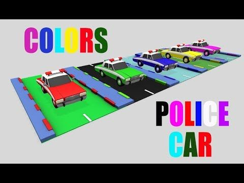 Learn Colors With Police Car for Kids  Children's Educational Video for ...