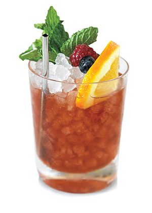 Sherry Cobbler.Delicious mixed drink dry sherry,fresh berries and orange.Just try to make it!
