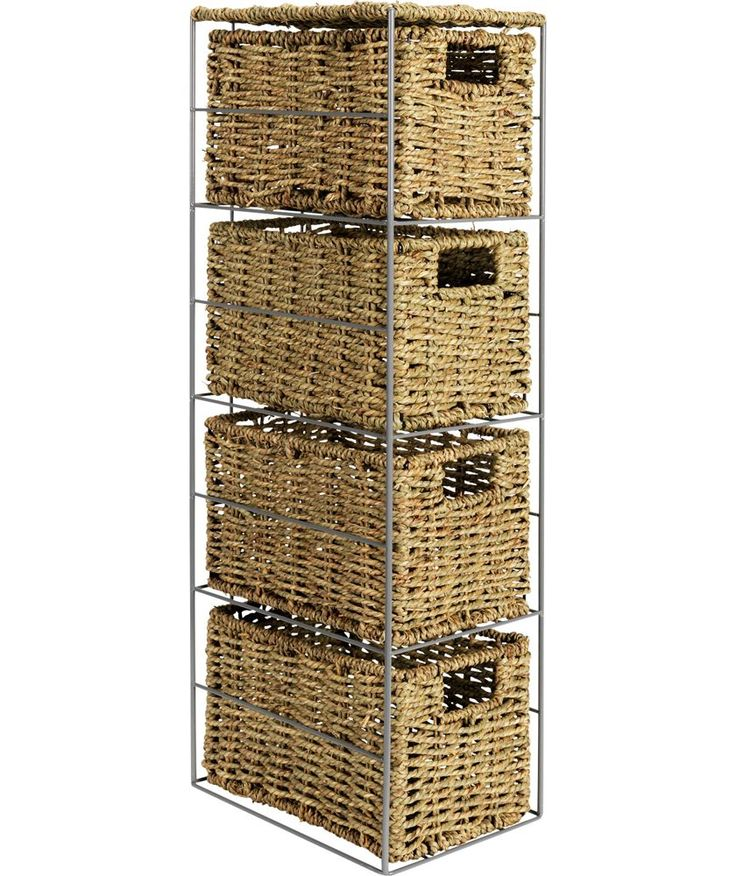 Contemporary Art Websites Buy Slimline Drawer Seagrass Storage Tower Natural at Argos co uk