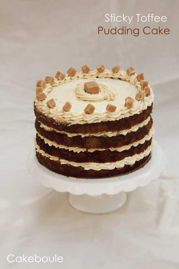 cake with pudding layer