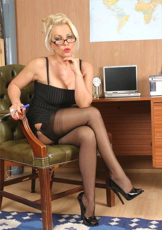 Mature women in black stockings-5692