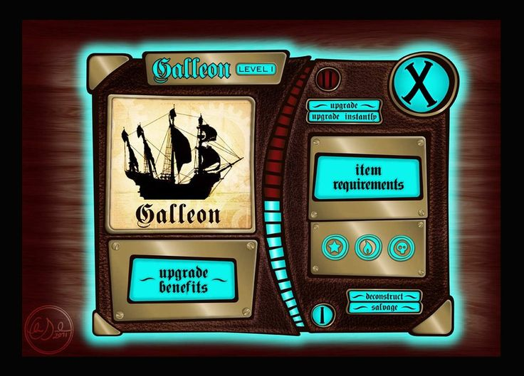 Game UI Design - home page by ~Neale on deviantART