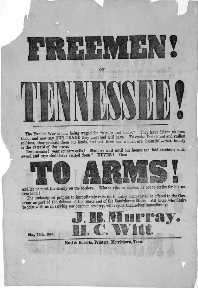 war posters | Author: J.B. Murray and H.C. Witt (the Confederates)