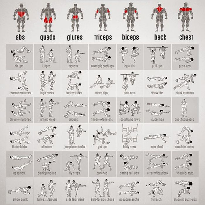 25 best ideas about Exercise chart – Gym Workout Sheet