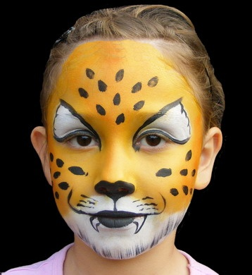 leopard face painting halloween - Easy Face Painting Halloween