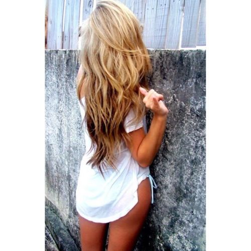 Blond on top with brown underneath