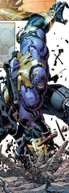 Thanos vs Black Bolt