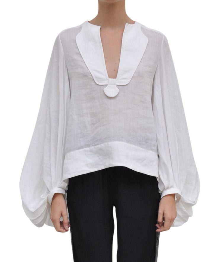 Diane Von Furstenberg Linnen Mallegra blouse | Lindelepalais.com 13641