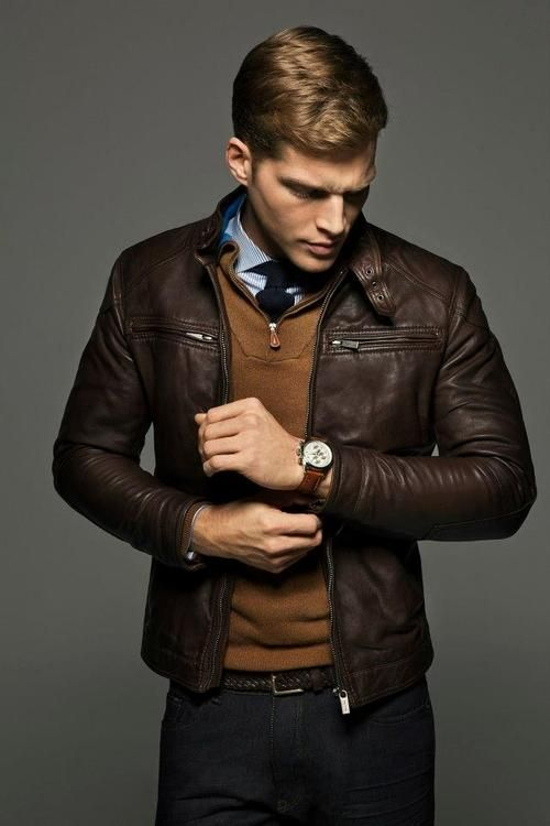 Could be date-wear or classy guys night wear. Layers are sexy. And essential. And I imagine this guy smells really great.