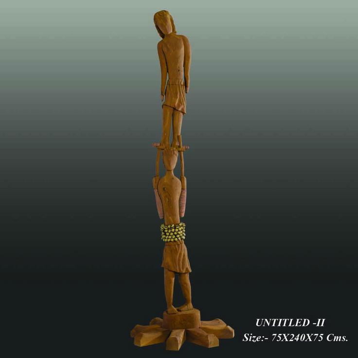 Created by:- Neeraj Gupta   Medium:- Wooden Size:- 75x240x75Cms Price on Demand
