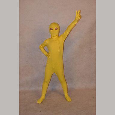 Ninja Zentai Dragt Morphsuit Barn Festival/Højtider Halloween Kostumer Ensfarvet