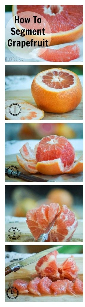 How to peel and segment grapefruit with less mess and more fruit! An easy way to maximize seasonal produce and incorporate citrus into recipes. - TheFitFork.com