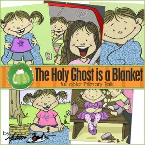 The Holy Ghost is like a Blanket: Church Ideas, Gift, Church Stuff, Holy Ghosts, Blankets Primary, Fhe Ideas, Baptisms Ideas, Green Jello, Ghosts Fhe