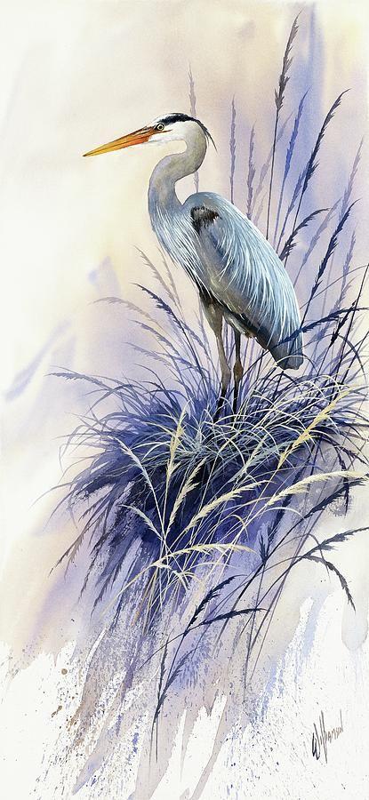Herons Grace Painting  - James Williamson